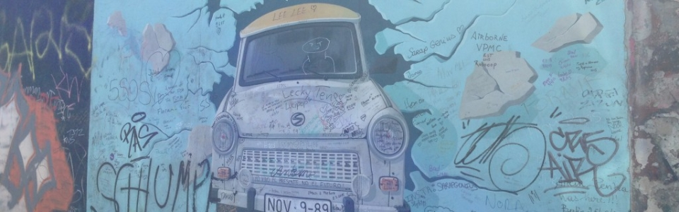 Famous east side gallery painting.