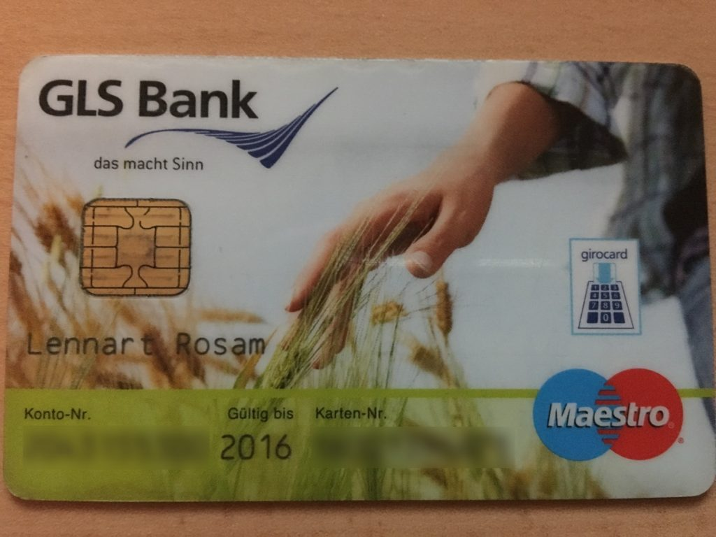 My old German debit card. It has girocard (EC) / Maestro functionality